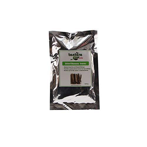 10 Stk. Tantora Banana Leaf Bananenblätter Beutel für tropische Fische reduziert den ph Wert