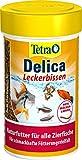 *TetraDelica Bloodworms, Naturfutter für Zierfische, enthält zu 100% gefriergetrocknete rote Mückenlarven, 100 ml Dose