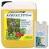 AQUALITY Aquarium Algen-EX (GRATIS Lieferung in DE - Erstklassiger Algenvernichter, Algenmittel, Algenentferner, Algenstopp - Befreit Fadenalgen, Bartalgen, Kieselalgen, Blau- + Schmieralgen), Inhalt:5 Liter