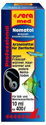 sera med Professional Nematol ein Arzneimittel für Zierfische gegen Fräskopfwürmer, Haarwürmer und andere Nematoden (Schnecken & Garnelen, Krebse vertragen das Arzneimittel nicht)
