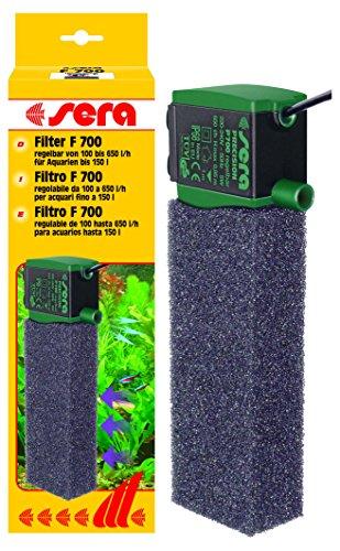 sera 6825 Innenfilter F 700 regelbar (650 l/h mit 5 Watt für Aquarien bis 150 l)