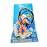 Vinkent American Seahorse Pneumatische Aquarium Landschaftsbau Aquarium Dekoration Kupfer Meerjungfrau Aquarium Landschaftsbau Pneumatische Spielzeug
