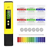 *Etercycle pH Messgerät, Wasserqualität Tester mit LCD Anzeige, PH Wert Messgerät ATC Wasserqualität Tester für Trinkwasser, Schwimmbad, Aquarium, Pools und Labor