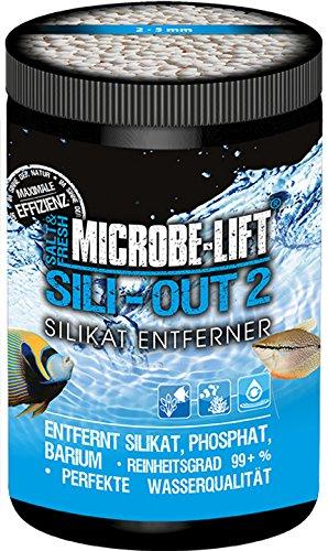 MICROBE-LIFT Sili-Out 2 – Silikat und Phosphatentferner bei Kieselalgen für Süßwasser und Meerwasser Aquarium, 1000 ml