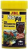 *JBL NovoFil 30260, Ergänzungsfutter für wählerische Aquarienfische, Rote Mückenlarven, 100 ml