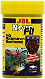JBL NovoFil 30260 Ergänzungsfutter für wählerische Aquarienfische, Rote Mückenlarven, 100 ml