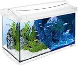 *Tetra AquaArt LED Aquarium-Komplett-Set, 60 Liter weiß (inklusive LED-Beleuchtung, Tag- und Nachtlichtschaltung, EasyCrystal Innenfilter und Aquarienheizer, ideal für Zierfische)