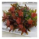 *Roovtap 7 Vorbauten/künstliche Lotus Graspflanze Garten-Party-Dekoration Plant Simulation Eucalyptus Blatt Künstliche Blumen Bouquet Dried Flower (Color : Pink)