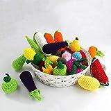 Catkoo Realistische Gemüse Obst Zitrone Häkelspielzeug Neugeborenen Fotografie Requisiten, Perfekte Ausbildung Kinder Intelligenz, Entwickeln Gehirn Geschenke Zufällige Farbe Wasserrettich