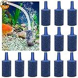 *Luftstein für Aquarium 24 Stück Luftausströmer Sauerstoffstein Belüfterstein für Aquarium und Teich,Blau